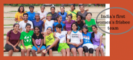 Team India's first frisbee team
