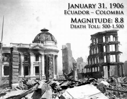 1906 Ecuador Colombia Earthquake