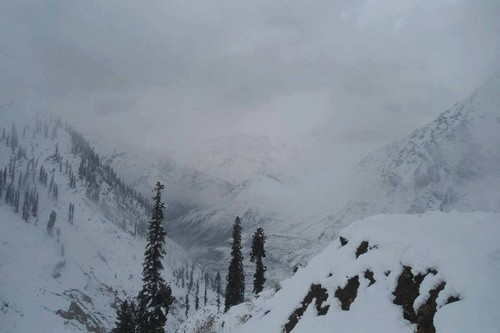 Snow fall in Naran
