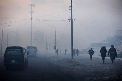 Pollution in Ulan Bator, Mongolia
