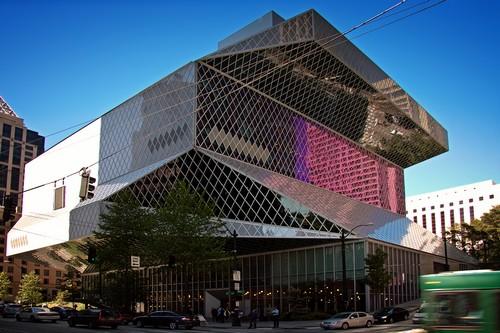 Seattle Public art Βιβλιοθήκες κτίρια