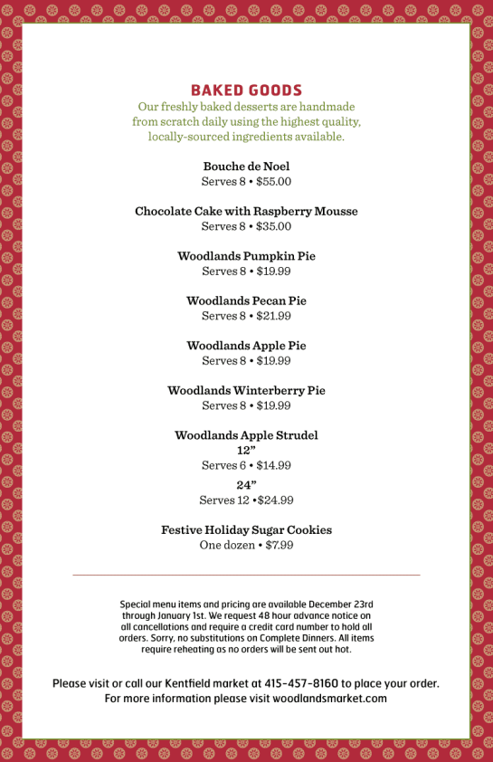 Holiday Menu 2013 Page 3