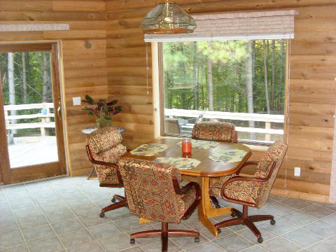 "Abe redid his dining room with log cabin siding he made on his Woodmaster. His wife calls the room, ""Abe Lincoln's log cabin."" And, yes, Abe's middle name is Lincoln!"