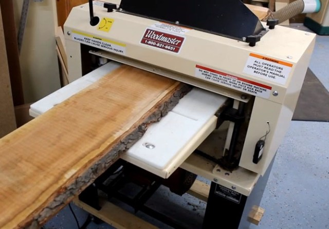 """Set the Woodmaster to full throttle and it will quickly power through and dimension the gnarliest stock, removing up to 1/8"""" per pass. But when you dial down the feed rate to effectively increase the cuts per inch, the Woodmaster quickly separates itself from other stationary planers by delivering a superior surface finish."""