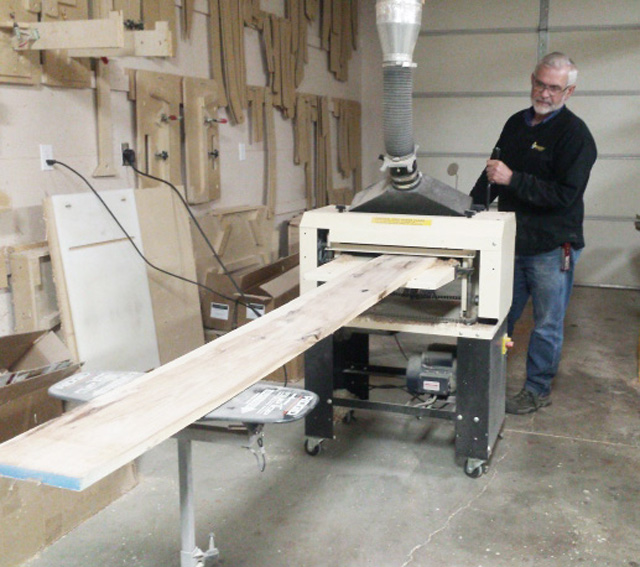 Give a man a 30' x 50' shop and a Woodmaster and he's good to go. At least that's the impression we got when we interviewed woodworker, Edson Miller.