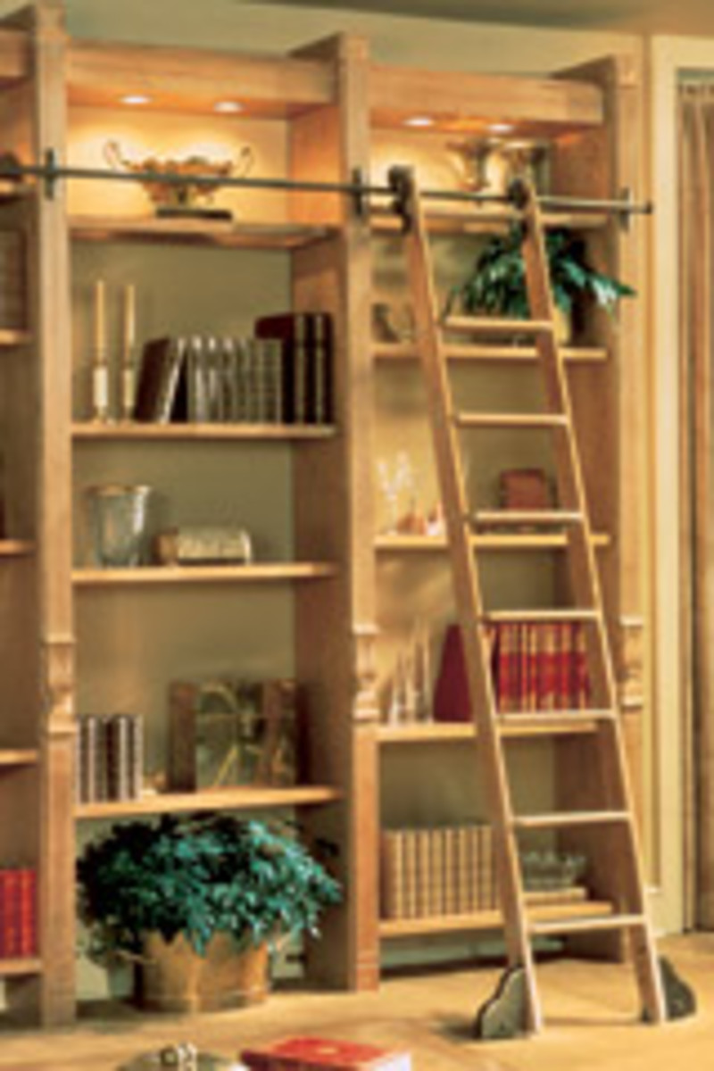 Best Classic No 1 Is Most Seller A Rolling Library Ladder Offered Sale Finishes Rolling Library Ladder Rail Rolling Library Ladder Many Different Hardwoods houzz 01 Rolling Library Ladder