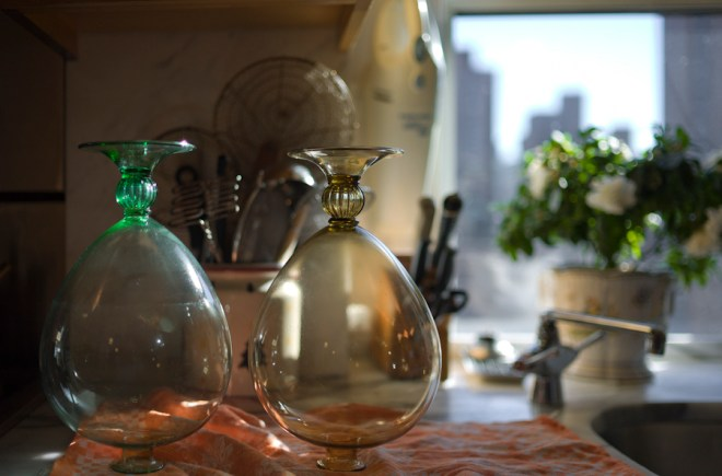 Drying Venini vases