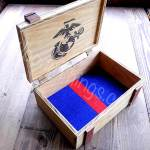 Marine Corps Wooden Keepsake Box
