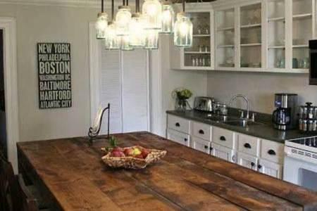 rustic homemade kitchen islands 13
