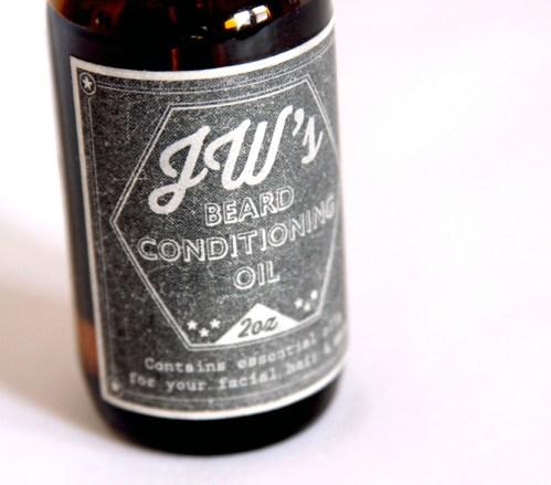 JW's Beard Oil Front Label