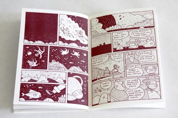 Los Tres Perdidos (detail) Comic Book By Mason Dickerson