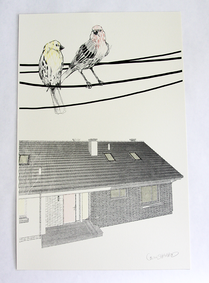 Risograph printed House Guests