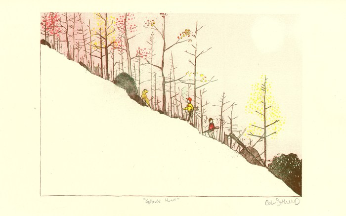 Grouse Hunt Riso Print