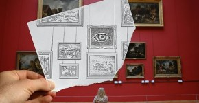 Arte, fotos con dibujos 1