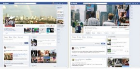 Comparcion de diseños de Facebook