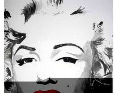 Marilyn Monroe arte glitch