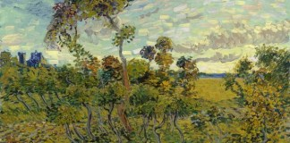Pintura de Van Gogh Sunset at Montmajour