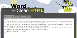Limpiar código HTML de procesador de textos Word