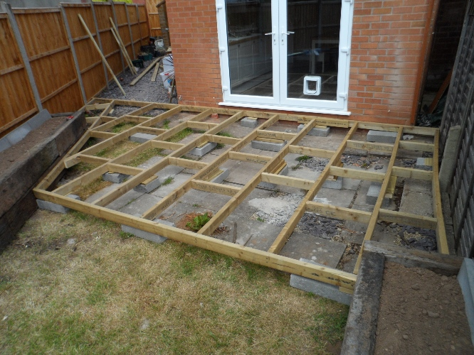 New garden design worcester gardening services for Garden decking quotes uk