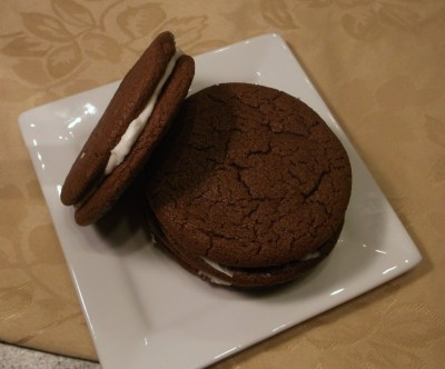 Chocolate Wafer Cookies with Mint Cream Filling