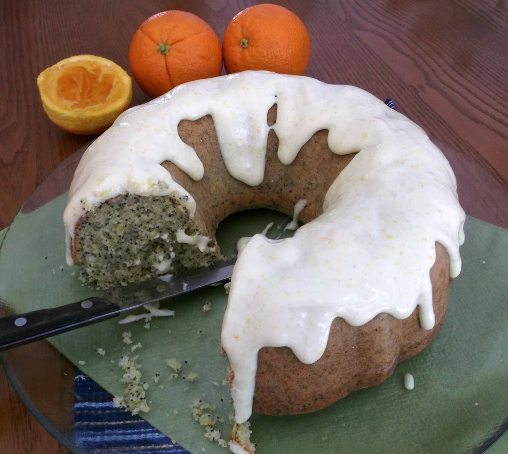 Orange Poppy Seed Bundt Cake (Source: Adapted from foodforthesoul.net)