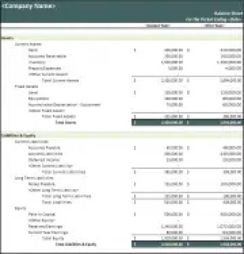 5 balance sheet formats in excel excel xlts. Black Bedroom Furniture Sets. Home Design Ideas