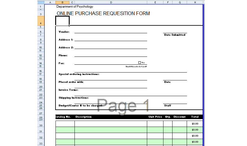 ... Purchase Request Form Template Excel By 4 Requisition Form Templates  Excel Xlts ...