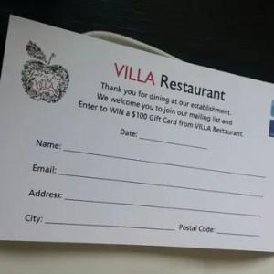 restaurant comment card template 55