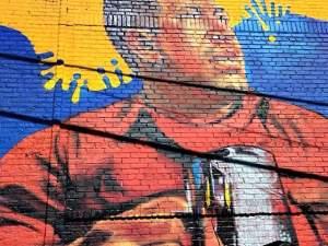 Hugo Chávez mural in the South Bronx.