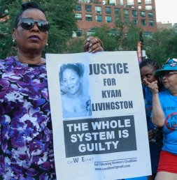 Supporter of Kyam Livingston, who was killed by NYPD.