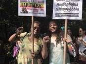 Monica Moorehead, Workers World Party presidential candidate, and Colin Ashby, People's Power Assembly organizer at Trans Day of Action.