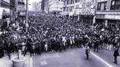 Twenty-five thousand people marching in Milwaukee after Dr. King was assassinated.