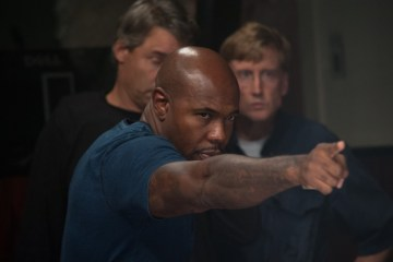 Antoine Fuqua on the set of 'Olympus Has Fallen'.(Courtesy of Film District)