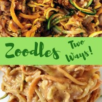 Zoodles Two Ways