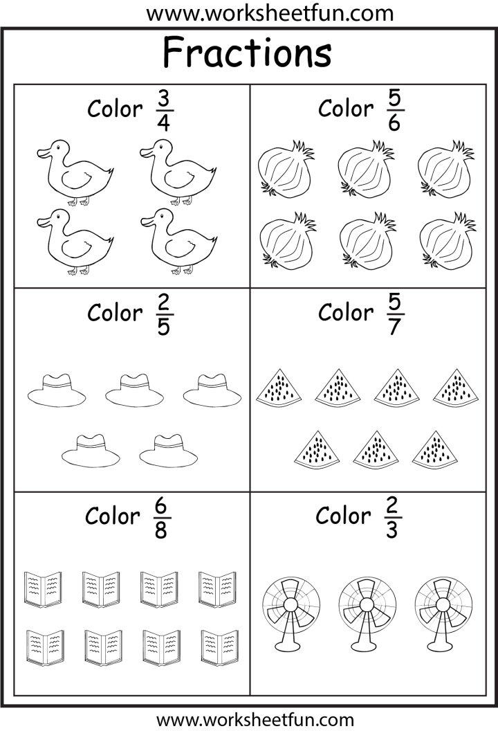 HD wallpapers fraction worksheets for kindergarten