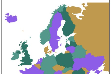 flat europe map without country names 32 chart with europe map without country names