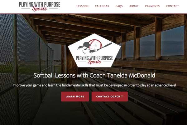 WordPress-design-softball-coach