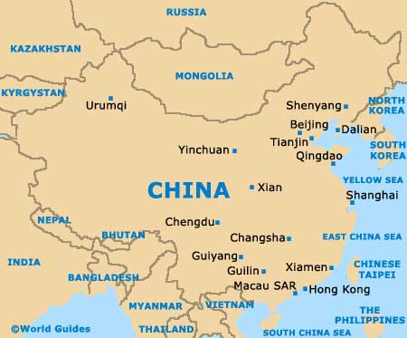 china country map Top 10 Interesting Facts About China