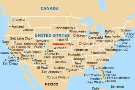 maps usa map kansas city