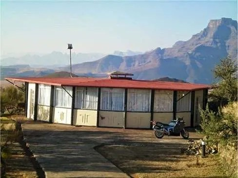 The abandoned Witsieshoek Mountain Inn in South Africa