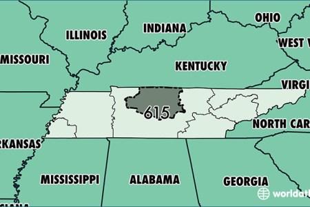 Map Of Tennessee Area - Area code missouri