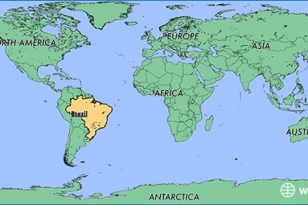 Map of the world showing brazil zil locator map sciox Images