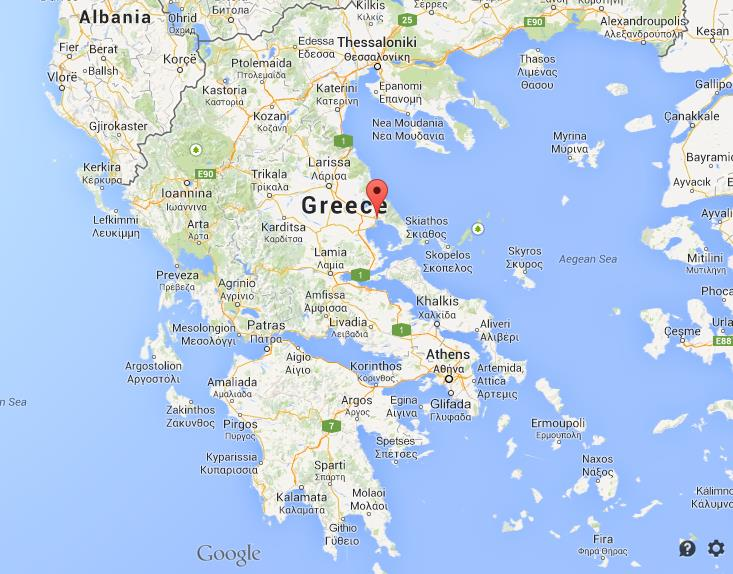 map volos