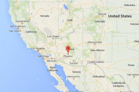 phoenix on map of us west coast
