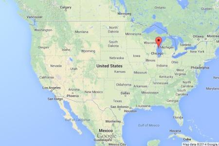 Map Of Usa Michigan - Lake michigan us map