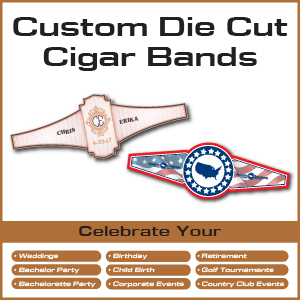 custom die cut cigar band