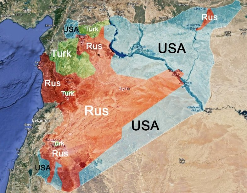 SYRIA US ATTACHMENT OF SIRIAN GOVERNMENT FORCE AND THE RUSSIANS