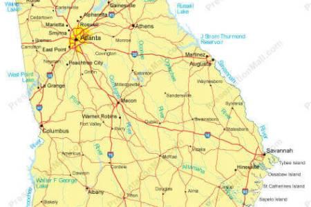 georgia usa map