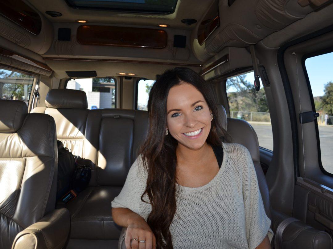 In the van!