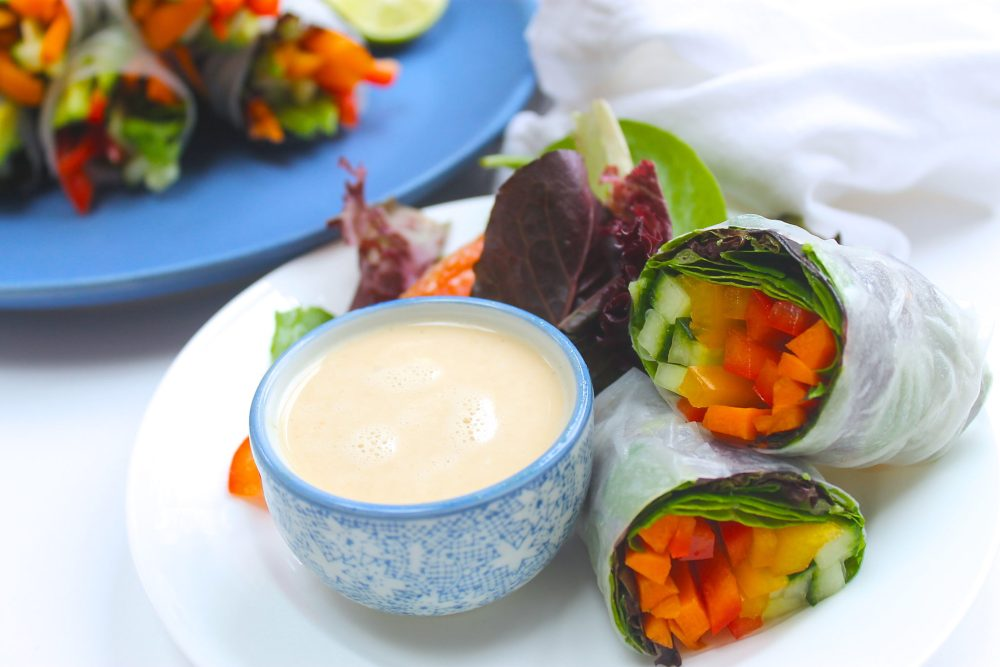 Vietnamese Summer Rolls with Peanut Dipping Sauce | WORLD OF ...